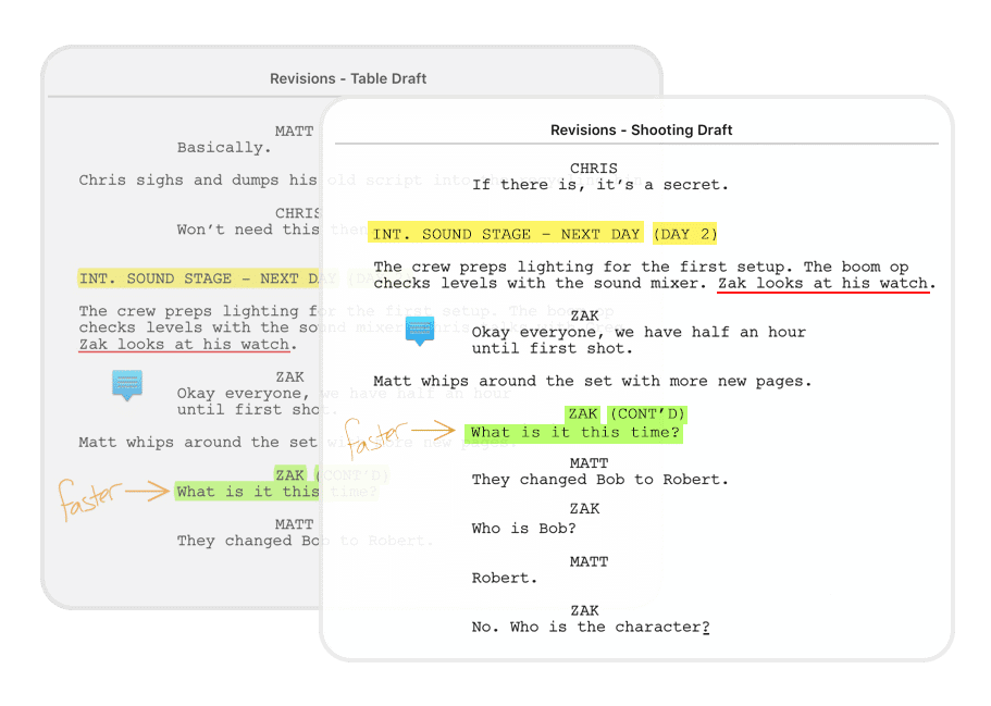 Scriptation PDF Annotation App Film TV Production Transfer Notes