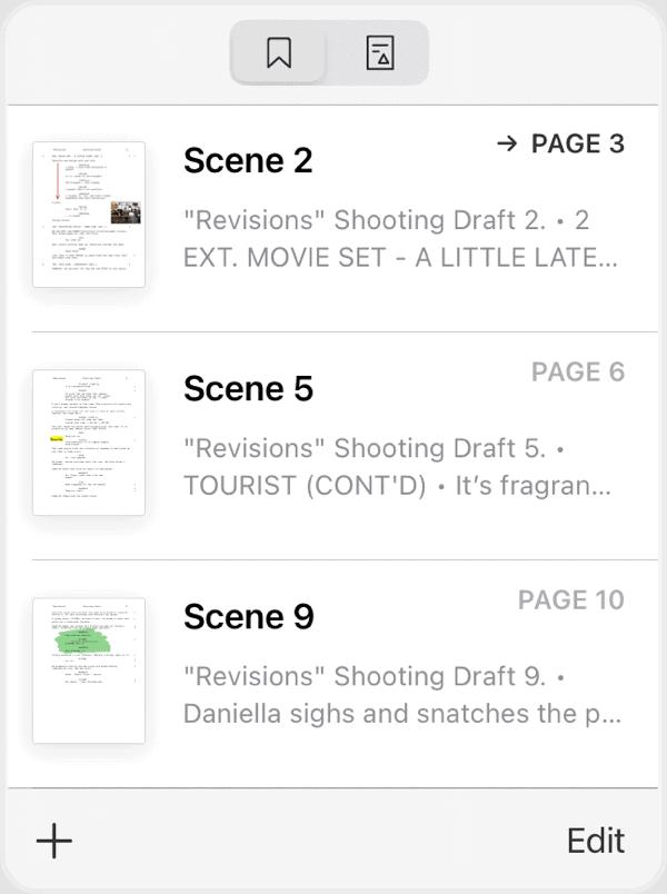 Scriptation-PDF-Paperless-Script-App-Film-TV_Bookmark-Transfer
