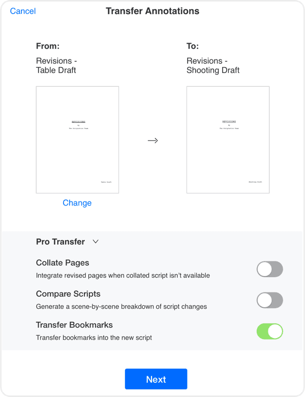 Scriptation-PDF-Paperless-Script-App-Film-TV_Transfer-Screen